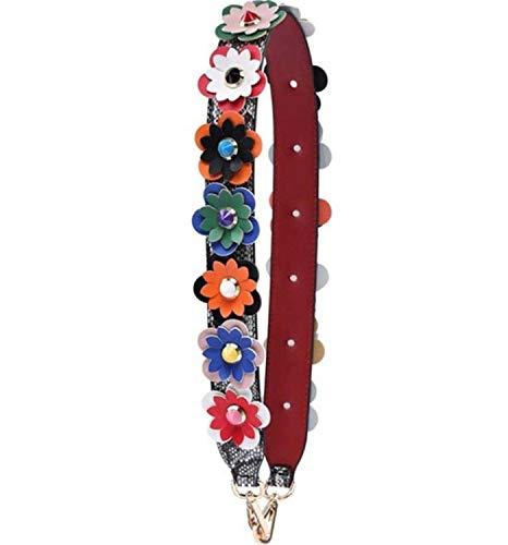Applique Messenger Bag (Thinkin Strap Für Frauen Handtasche Cute Floral Applique Breiter Gürtel Für Messenger Bag Zubehör)