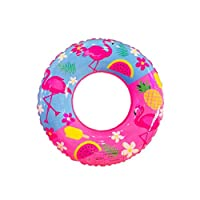 Swimming Ring Pvc Cartoon Animal Inflatable Swim Ring Thicken Round Lifebuoy Pool Party Toys 60cm