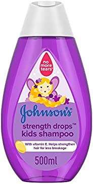 JOHNSON'S Kids Bath, Shampoo, Strength Drops, 500ml