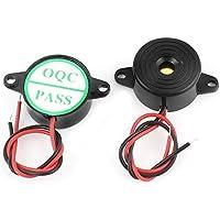 DealMux a14092500ux0825 DIY Projeto DC3-24V som contínuo alarme eletrônico campainha, preto, 2 Piece