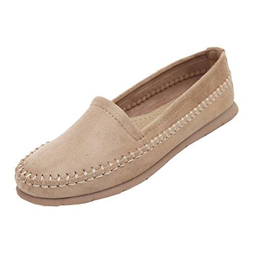 Damen Classic Boat Shoe Bootsschuhe Schuhe Mokassins Rutschfeste Schuhe Mädchen Aprikose 40