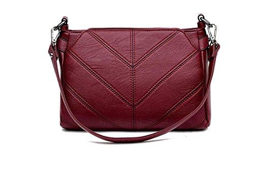 Borse, borse, spalla di modo, sacchetto del messaggero, una piccola barbona Red wine