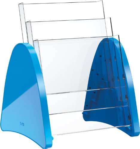 Helit H6270534 - Tischprospekthalter the parable 3 x DIN A4 hoch, blau