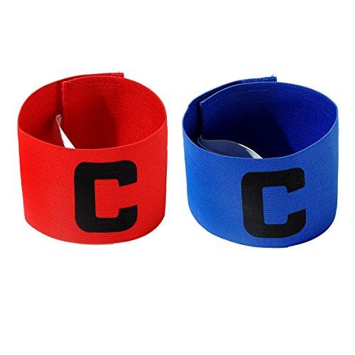 Jiele Brazal multicolor de capitán de fútbol, brazalete elástico estándar de fútbol C para niños, velcro retráctil, adecuado para muchos tipos de deportes
