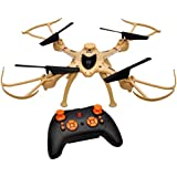 Toyshine 2.4 Ghz Remote Control Drone, 6 CH 6-Axis Quadcopter, One Key Return, Headless Mode, R/C Drone, Army Brown