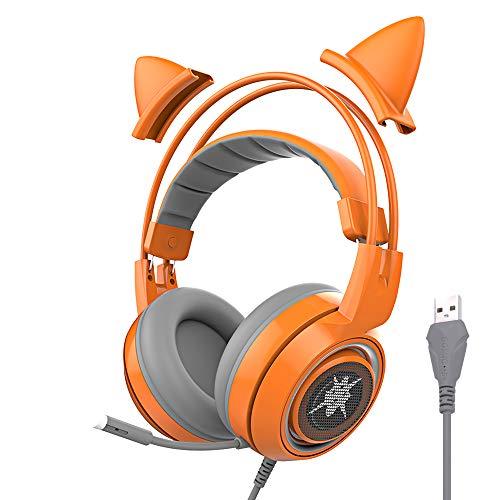 SOMIC G951 Orange Spiel Kopfhörer, Gaming Headset Orange -