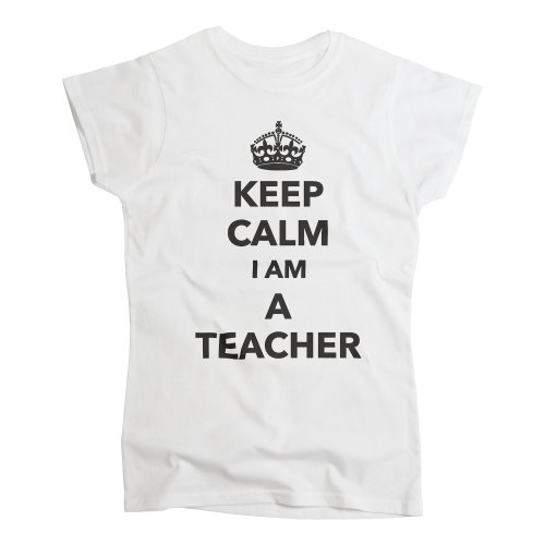nutees-keep-calm-i-am-a-teacher-profession-womens-t-shirt-white-medium