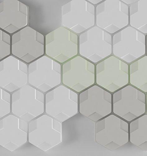 Panelados - Pack Primavera teselados decorativos de pared (Mod. HEXA). Motivos geométricos. Composición DIY. Autoadhesivo. 25 piezas.