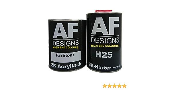 Alex Flittner Designs 1 Liter 2k Acryl Lack Autolack Set Für Kaessbohrer Setra Moosgruen 6005 Auto