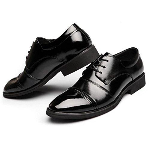 Zapatos Nuevos Para Hombres Zapatos Redondos Zapatos Planos Zapatos Transpirables Zapatos Individuales Zapatos De Encaje Negros