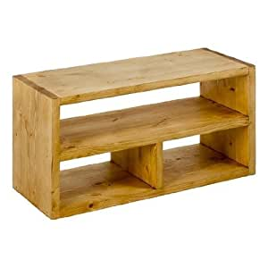 Petit meuble tv rectangulaire 3 niches en bois massif Amazonpetit meuble cuisine