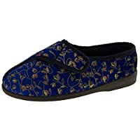 Footwear Studio Womens Navy Blue Diabetic Slippers UK 6