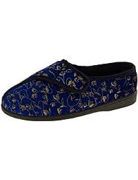 ZongsenC Couple Estiva Striscia Pantofole in Maglia di Lino Sandali Interni Pantofole Traspiranti Rosso Blu 39-40