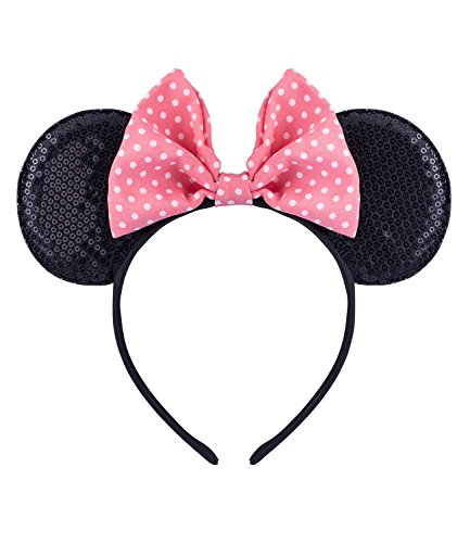 SIX Minnie Mouse Ohren Micky Mouse Haarreif Disney -