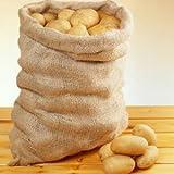 (1x) 50kg légumes Pommes de terre en toile de jute sacs sacs de rangement