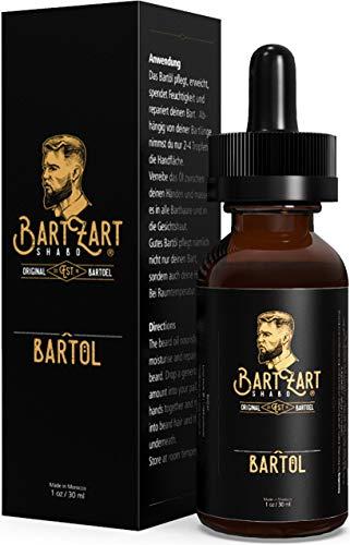 BartZart 30ml Bartöl für die tägliche Bartpflege I Arganöl für gesundes Wachstum I männlicher Duft mit Moschus I kräftigt & schützt Deinen Bart -