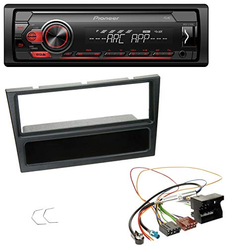 caraudio24 Pioneer MVH-S100UB USB AUX MP3 1DIN Autoradio für Opel Agila Combo Corsa C Omega B Vivaro ab 2005 schwarz (Pioneer-subwoofer-combo)