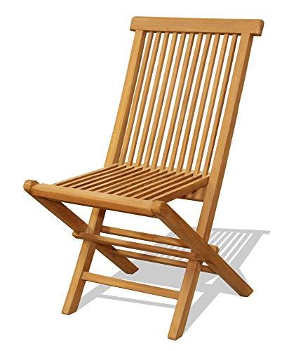 Chaise en teck brut (Par 2)
