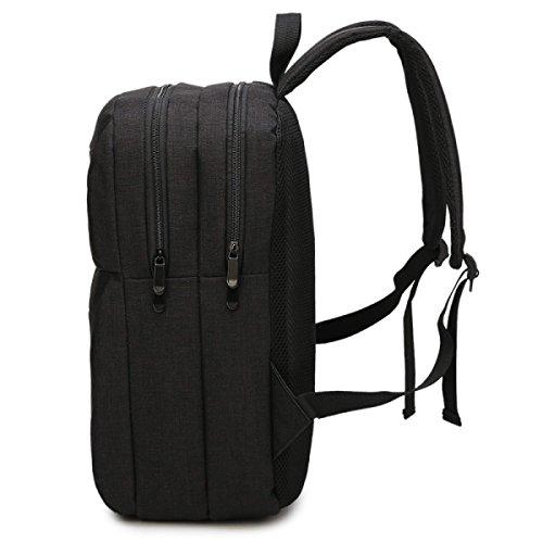 BAAFG Geschäfts-Rucksack USB-aufladender Schulterbeutel-Computerbeutel Beiläufiger Art Und Weisekursteilnehmerbeutel LightGray