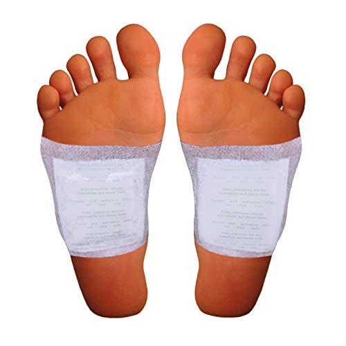 Detox Fußpflaster Zur Entgiftung Und Zum Entschlacken - Bambus Pads Für Die Stärkung Ihrer Gesundheit - 10 Detox Vitalpflaster Zum Abnehmen Auf Natürliche Weise - Detox Pflaster