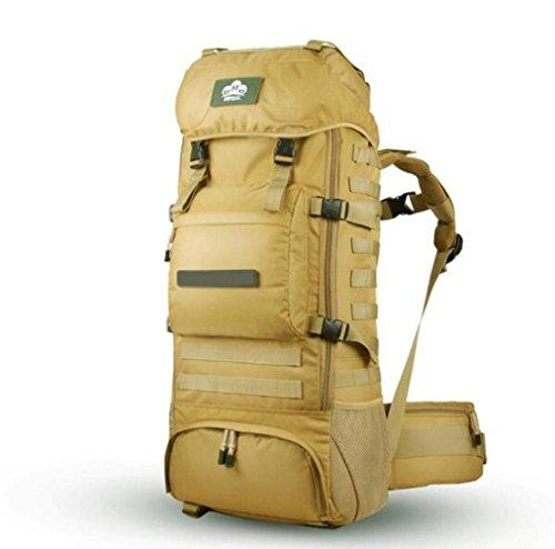 Mjy zaino da arrampicata outdoor zaino militare verde mimetico borsa da trekking di grande capacità,colore di fango,34 * 22 * 80c