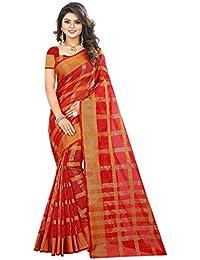 Sugathari Sarees Women's Red Manipuri Silk Saree (Manipuri 2 Red)