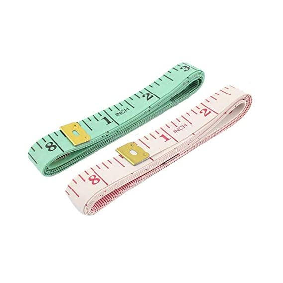 Blumfye Body Measuring Ruler Sewing Cloth Tailor Measurement Tape (Multicolour, Pack of 2)