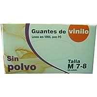 GUANTES DE VINILO SIN POLVO Talla M 10Cajas+100u pack (1000u).Indicado para uso sanitario, industrial y alimentario.Libre de latex.