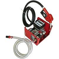 Bomba diésel eléctrica de 550 W, autoaspirante, 60 L/min, bomba de aceite, bomba de combustible con pistola de surtidor, mangueras