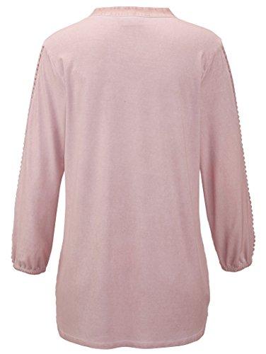Damen Shirt mit Spitzeneinsatz am Arm by AMY VERMONT Rosé