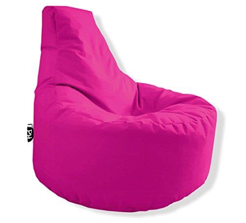 Patchhome Gamer Kissen Lounge Kissen Sitzsack Sessel Sitzkissen In & Outdoor geeignet fertig befüllt - Pink - in 25 Farben