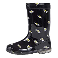 GladRags Kids Girls Childrens Wellington Boots Wellies Wellys Rain Snow Warm Autumn Winter Shoes Size UK Infant Child 6 7 8 9 10 11 12 13 1 2 3 4 5 (10 UK Child, Daisy)