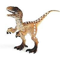 Delaman Juguetes de Dinosaurio Juguete Modelo de Dinosaurio, Figuras de Dinosaurio Prehistóricas Realistas, Therizinosaurus, Velociraptor, Tyrannosaurus Rex ( Color : Velociraptor )