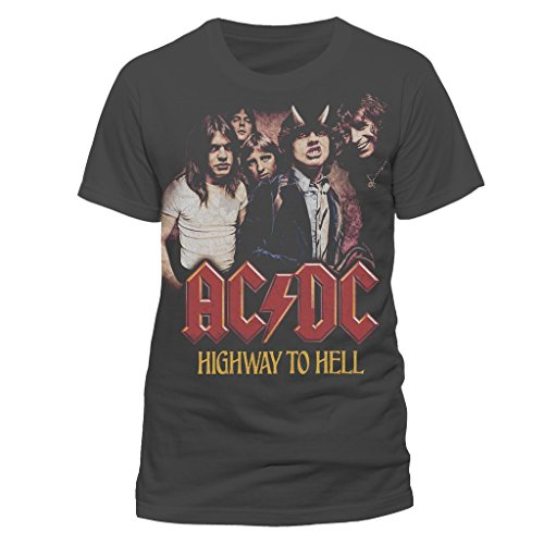 ACDC Official Highway to Hell Rock Heavy Metal Tee T-Shirt Top Clothing Mens Ladies Womens Unisex