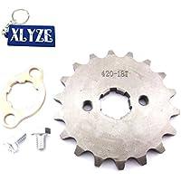 XLYZE 420 18 dientes engranaje de piñón de cadena frontal de 20 mm para chino Quad ATV Pit Dirt Monkey Bike Stomp Thumpstar SDG SSR Taotao