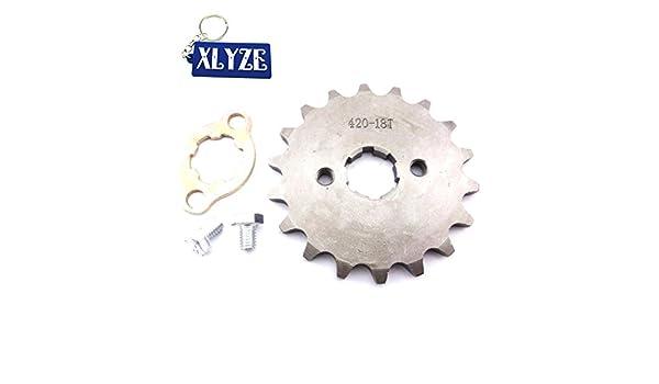 XLYZE 420 18 Tooth 20mm Front Chain Sprocket Gear for Chinese Quad ATV Pit Dirt Monkey Bike Stomp Thumpstar SDG SSR Taotao