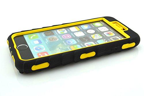 iPhone 6Plus Coque, meaci (TM) Coque pour iPhone 6Plus 14cm cas 3en 1Pneu à rayures Combo hybride Defender High Impact Corps ArmorBox Coque rigide en silicone et PC Coque de protect