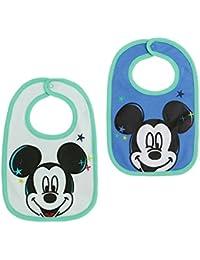 Disney Mickey Babies babero:(paquete doble) 2016 Collection - Verde