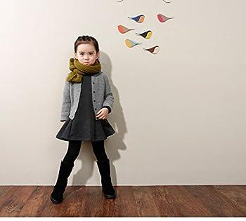 M-g-x Children 'S Clothing Autumn & Winter New Girls Cotton Thick Bow Peng Peng Dress Size 140cm (Gray) 1