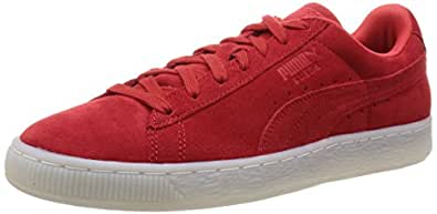 Puma Men's SuedeClassicColored High Risk Red and Black Leather Sneakers - 10UK/India (44.5EU)