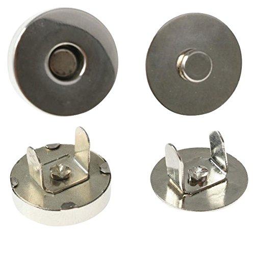 10 x Magnetverschluß Magnetknopf Magnetschließe aus Metall - rund - Durchmesser: 10 - 18mm - Magnetischer Verschluss für Textilien und Taschen - selbstzentrierend - zur Befestigung an Leder oder Stoff, Größe:Ø 10mm (Tasche Kleidungsstück Leder Große)