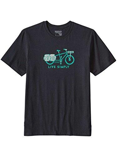 Patagonia Live Simply Cargo Bike Cotton T-Shirt Men black