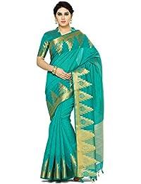 Mimosa By Kupinda Women's Tussar Silk Saree Banarasi Style (Latest Designer Sarees /Party Wear Sarees /New Collection...