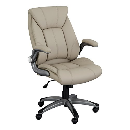 Norwood Commercial Furniture NOR-OUG1041CP-SO Executive Chair with Flip-Up Arms, 18 9/10