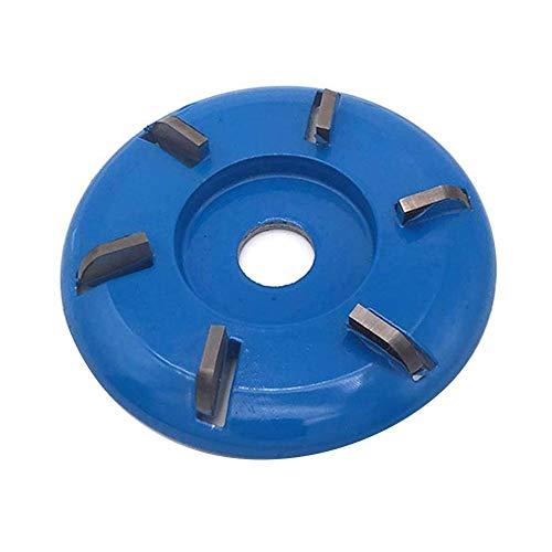 belukies Holzschnitzscheibe, Holz-Turbo-Carving-Scheibenwerkzeug Fräswerkzeuge für Winkelschleifer, 90 mm Power-Holzschleif-Trennscheiben-Winkelschleifer-Aufsatz-Fräswerkzeug für die Holzbearbeitung