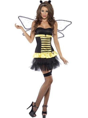 Bienenkostüm Kostüm Biene Marienkäferkostüm Marienkäfer gelb schwarz / rot schwarz Minikleid sexy Kleid Gr. 34 (XS), 36/38 (S), 40/42 (M), 44/46 (L), , (Bug Sexy Kostüme Erwachsene Lady)