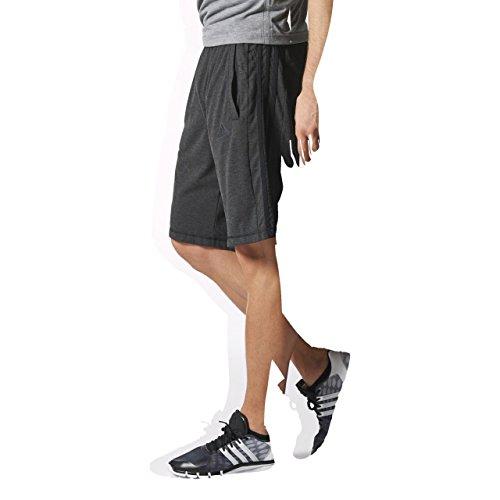 adidas Herren Essentials 3 Streifen Shorts Schwarz