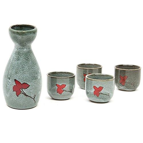 fortag-4-tlg-sake-set-handgemalte-keramik-japanischer-sake-set-stil-aus-steinzeug-porzellan-mit-deko