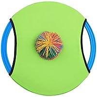 YeahiBaby Trampolín Paleta y Juego de Pelota Flying Disc Ball Bounce Juego de Lanzamiento y Catch Bat con Pelota Deportes al Aire Libre para Adultos niños (1 Paleta y 1 Pelota, Color Aleatorio)