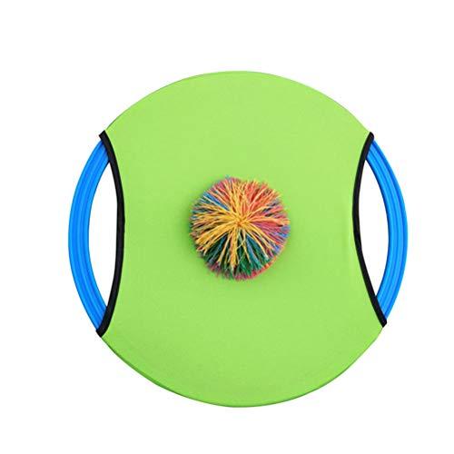 Toyvian Fliegende Scheibe Trampolin Paddel und Ball Set Ball Bounce Spiel Wurf- und Fangschläger mit Ball Outdoor Sports für Erwachsene Kinder